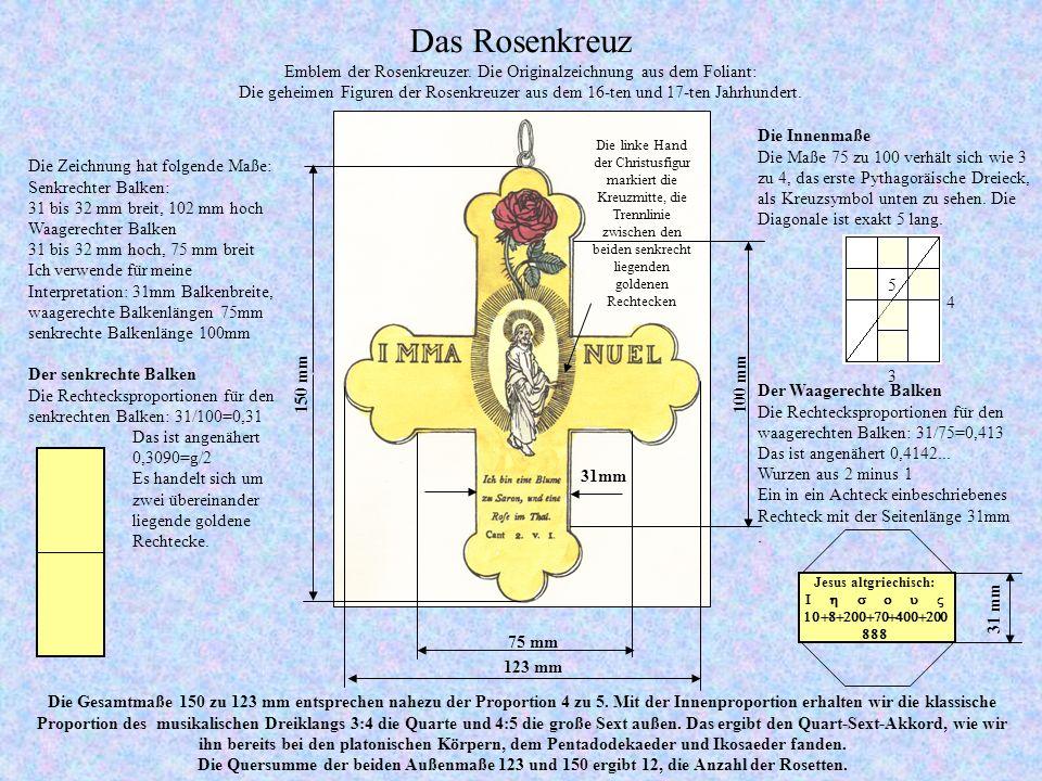 Das Rosenkreuz Emblem der Rosenkreuzer.
