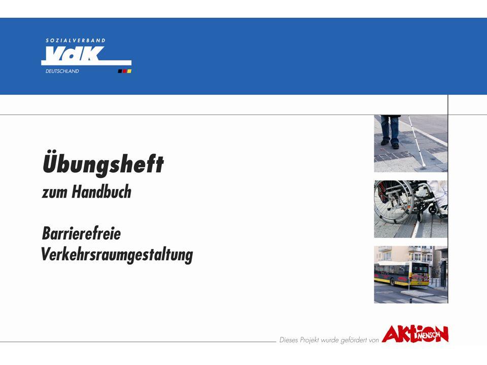 Übungsthema 3 Kreisverkehr mit Fahrbahnteiler und Fußgängerüberweg siehe auch Handbuch Barrierefreie Verkehrsraumgestaltung - Kap.