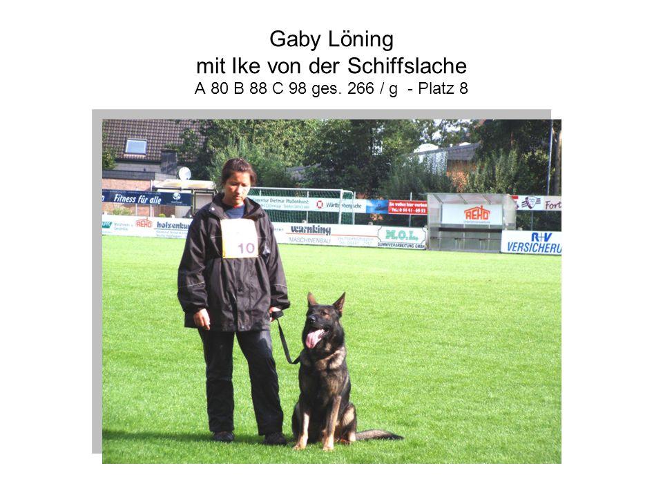 Gaby Löning mit Ike von der Schiffslache A 80 B 88 C 98 ges. 266 / g - Platz 8