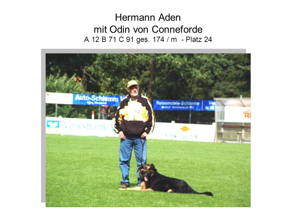 Hermann Aden mit Odin von Conneforde A 12 B 71 C 91 ges. 174 / m - Platz 24