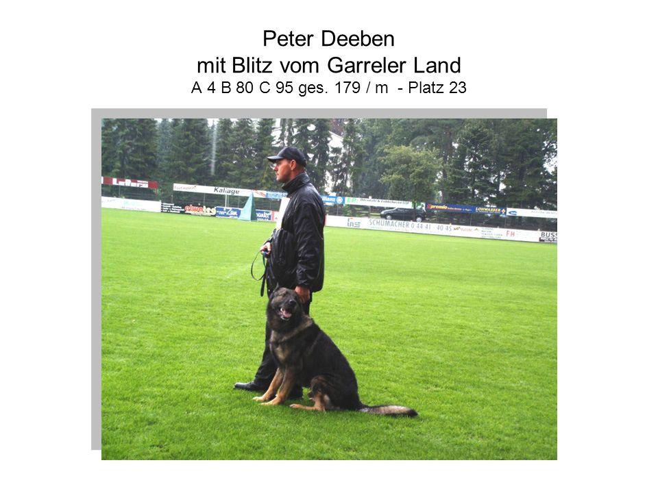Peter Deeben mit Blitz vom Garreler Land A 4 B 80 C 95 ges. 179 / m - Platz 23