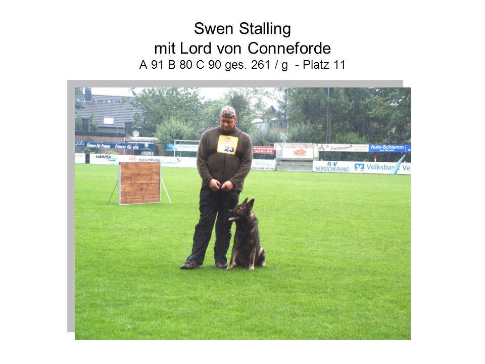 Swen Stalling mit Lord von Conneforde A 91 B 80 C 90 ges. 261 / g - Platz 11