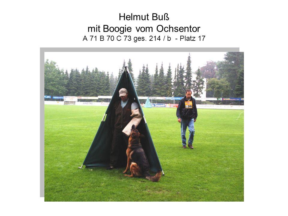 Helmut Buß mit Boogie vom Ochsentor A 71 B 70 C 73 ges. 214 / b - Platz 17