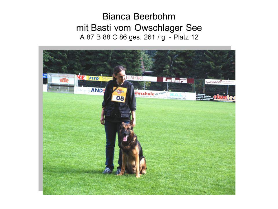 Bianca Beerbohm mit Basti vom Owschlager See A 87 B 88 C 86 ges. 261 / g - Platz 12