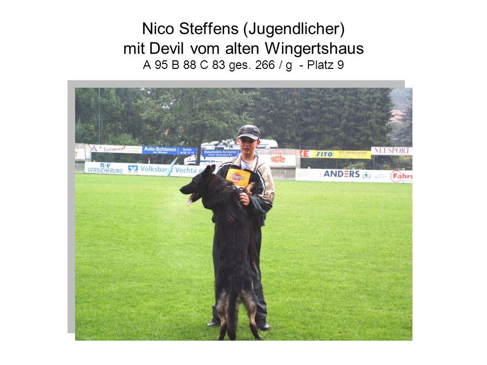 Nico Steffens (Jugendlicher) mit Devil vom alten Wingertshaus A 95 B 88 C 83 ges. 266 / g - Platz 9