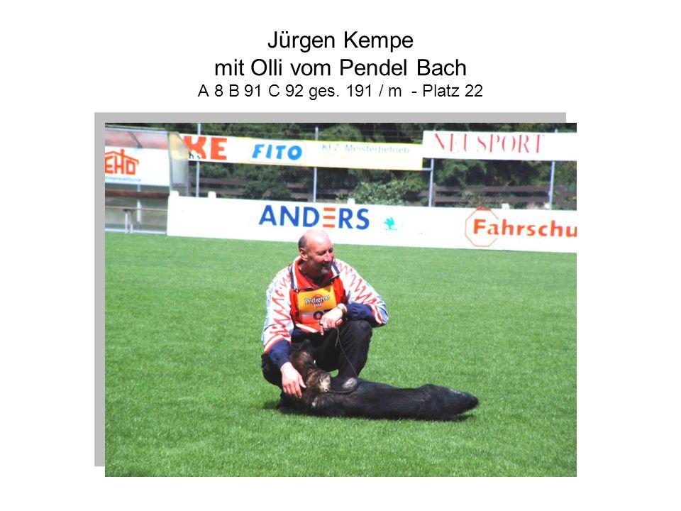 Jürgen Kempe mit Olli vom Pendel Bach A 8 B 91 C 92 ges. 191 / m - Platz 22