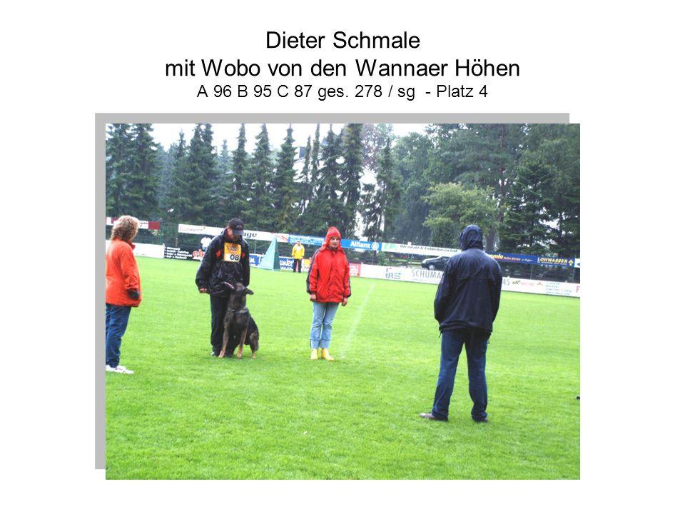 Dieter Schmale mit Wobo von den Wannaer Höhen A 96 B 95 C 87 ges. 278 / sg - Platz 4