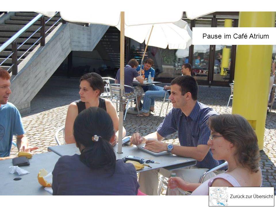 Pause im Café Atrium