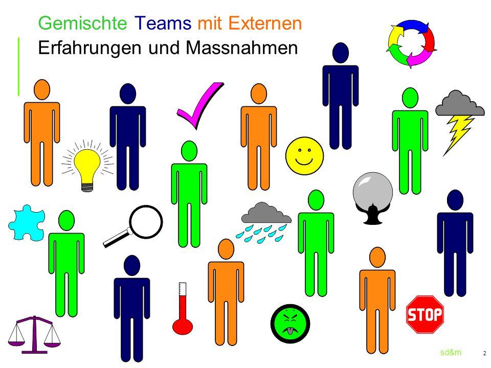 sd&m 3 Betroffen sind der Projektleiter das Team die Strukturen/Regeln