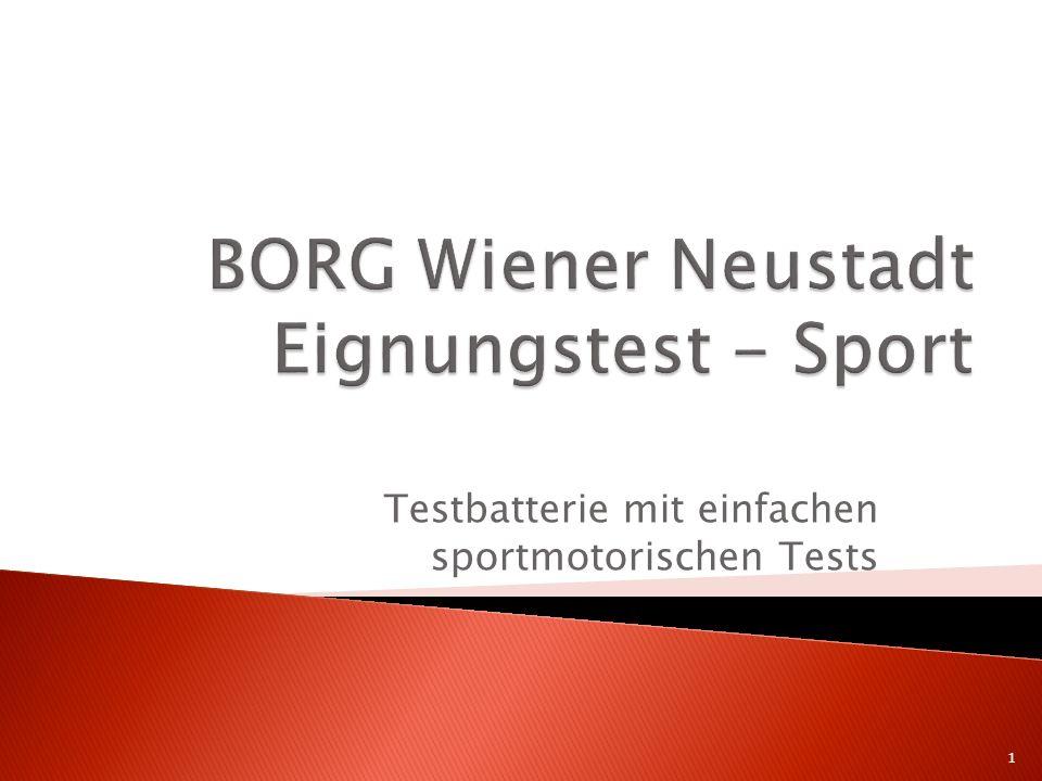 Testbatterie mit einfachen sportmotorischen Tests 1