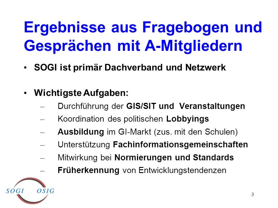 3 SOGI ist primär Dachverband und Netzwerk Wichtigste Aufgaben: – Durchführung der GIS/SIT und Veranstaltungen – Koordination des politischen Lobbying