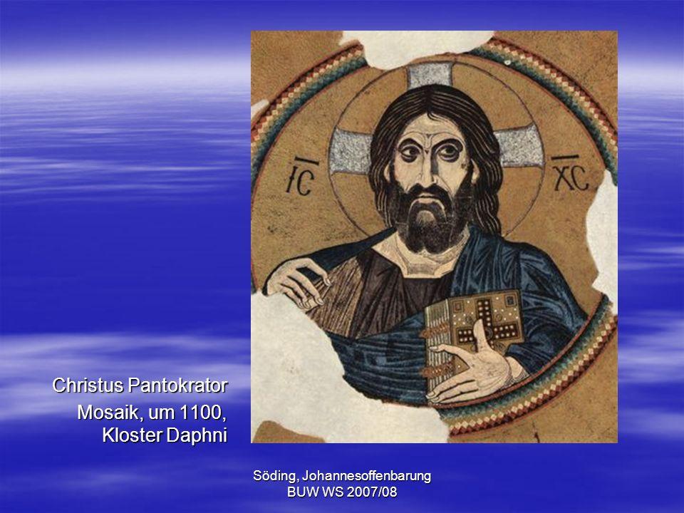 Söding, Johannesoffenbarung BUW WS 2007/08 Die sieben Sendschreiben Der Botenspruch nach Smyrna (Offb 2,8) So spricht er, der Erste und der Letzte, der tot war und wieder lebendig wurde.