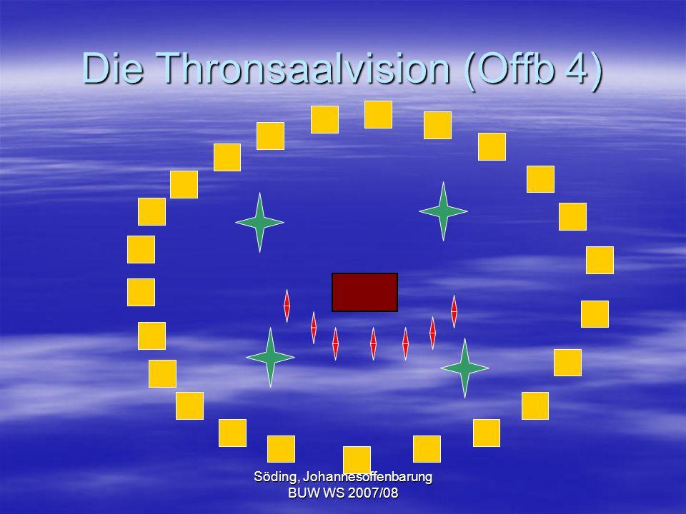 Söding, Johannesoffenbarung BUW WS 2007/08 Die Thronsaalvision (Offb 4)