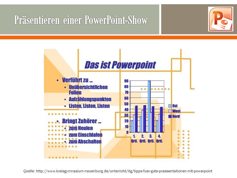 Quelle: http://www.kreisgymnasium-neuenburg.de/unterricht/itg/tipps-fuer-gute-praesentationen-mit-powerpoint