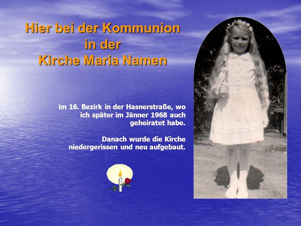 Hier bei der Kommunion in der Kirche Maria Namen im 16.