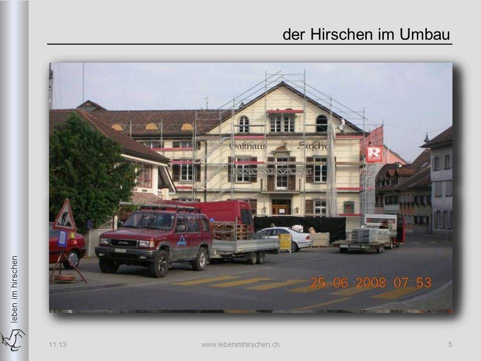 leben im hirschen Technikder neue Hirschen 11.13www.lebenimhirschen.ch26