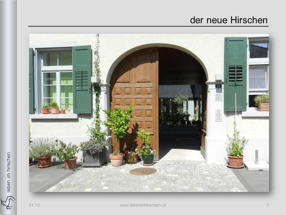 leben im hirschen Wohnung 11der neue Hirschen 11.13www.lebenimhirschen.ch18
