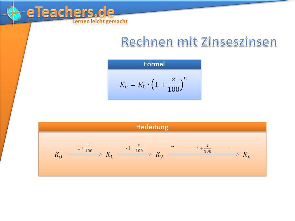 Formel Herleitung