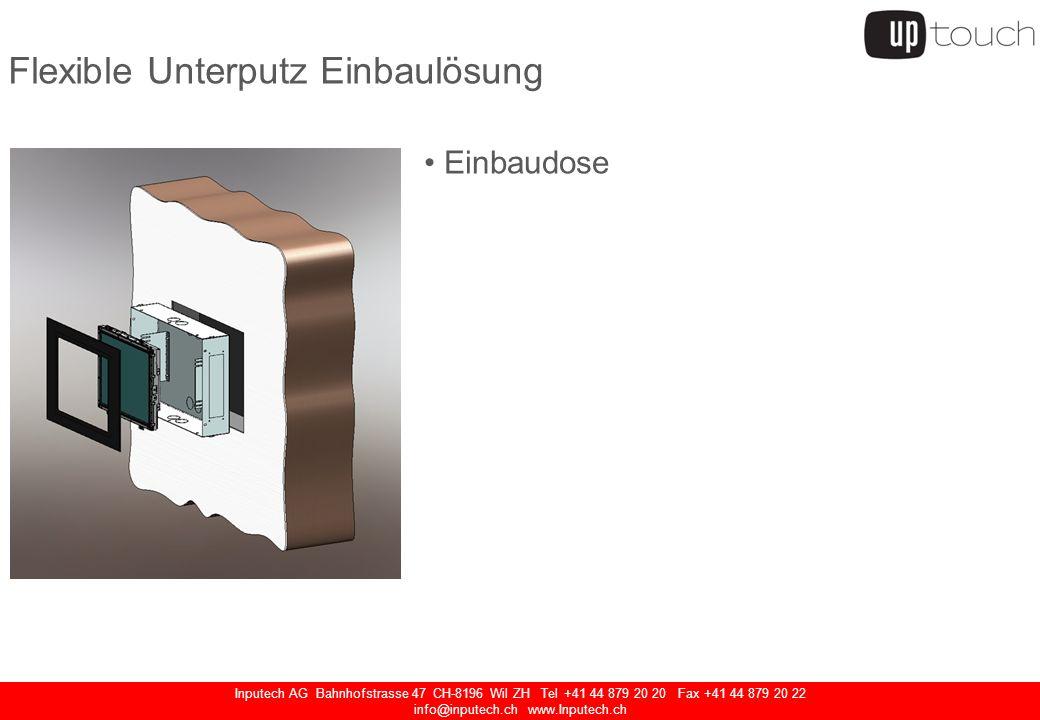 Inputech AG Bahnhofstrasse 47 CH-8196 Wil ZH Tel +41 44 879 20 20 Fax +41 44 879 20 22 info@inputech.ch www.Inputech.ch Touchscreen Monitor IntelliTouch Touchscreen Rückwand Industrie Netzteil Audio-Anschluss Netzschalter USB Anschluss (Frontseitig)