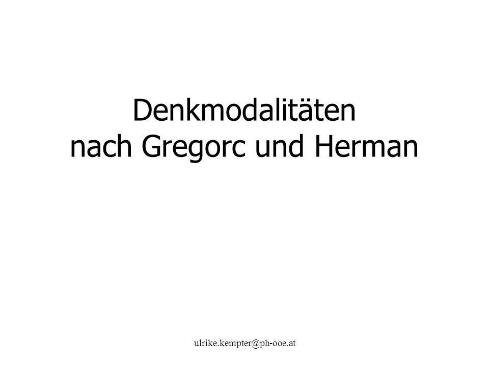 ulrike.kempter@ph-ooe.at Denkmodalitäten nach Gregorc und Herman