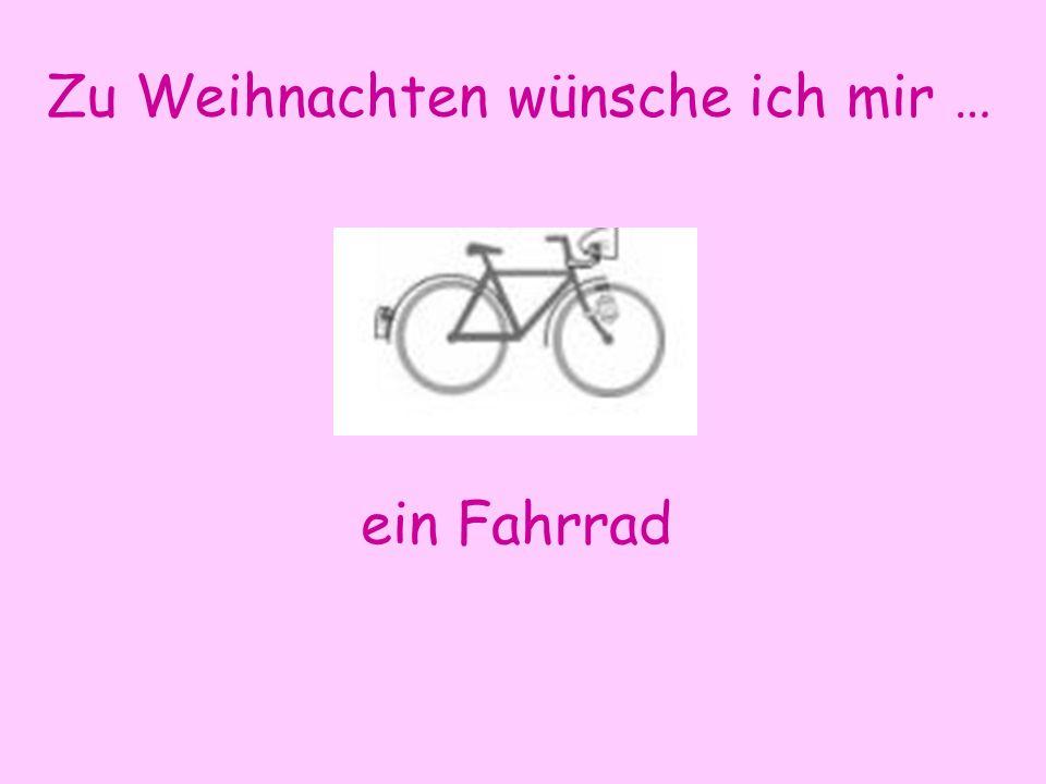Zu Weihnachten wünsche ich mir … ein Fahrrad