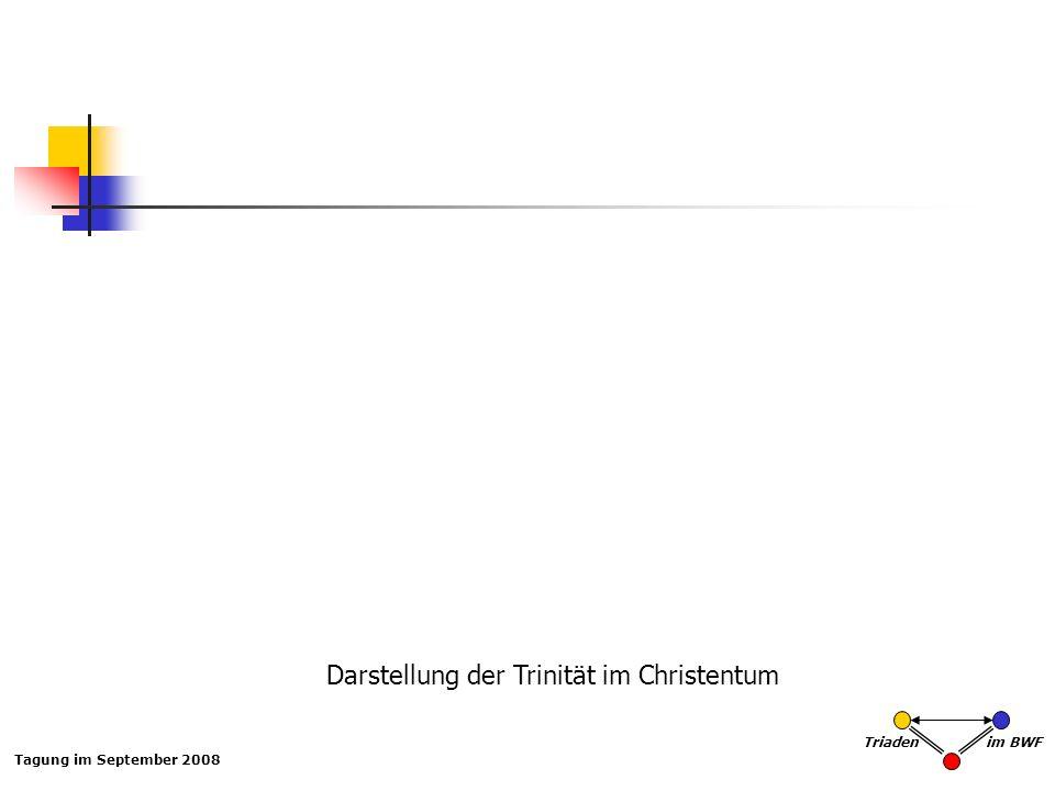 Tagung im September 2008 Triaden im BWF Darstellung der Trinität im Christentum