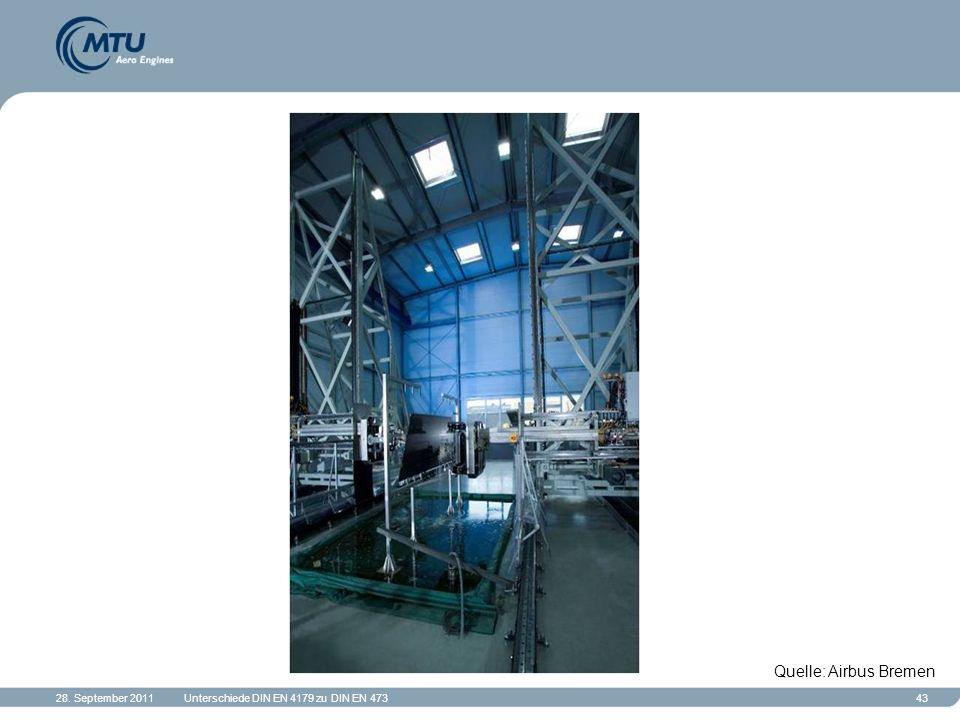 28. September 2011Unterschiede DIN EN 4179 zu DIN EN 47343 Quelle: Airbus Bremen