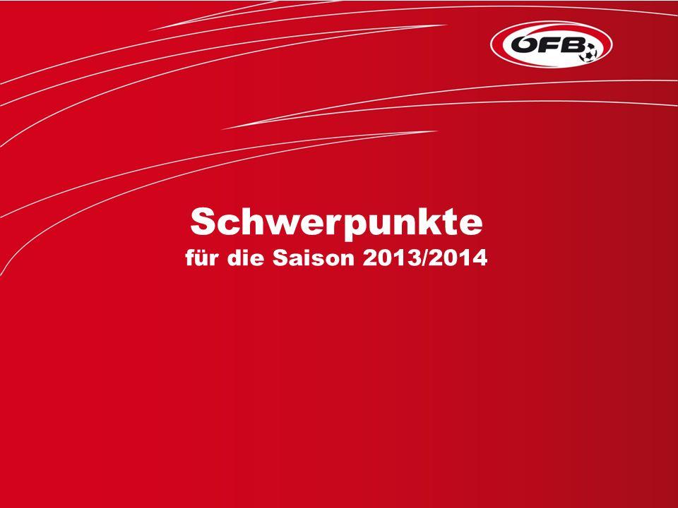 Folie 1 Schwerpunkte für die Saison 2013/2014