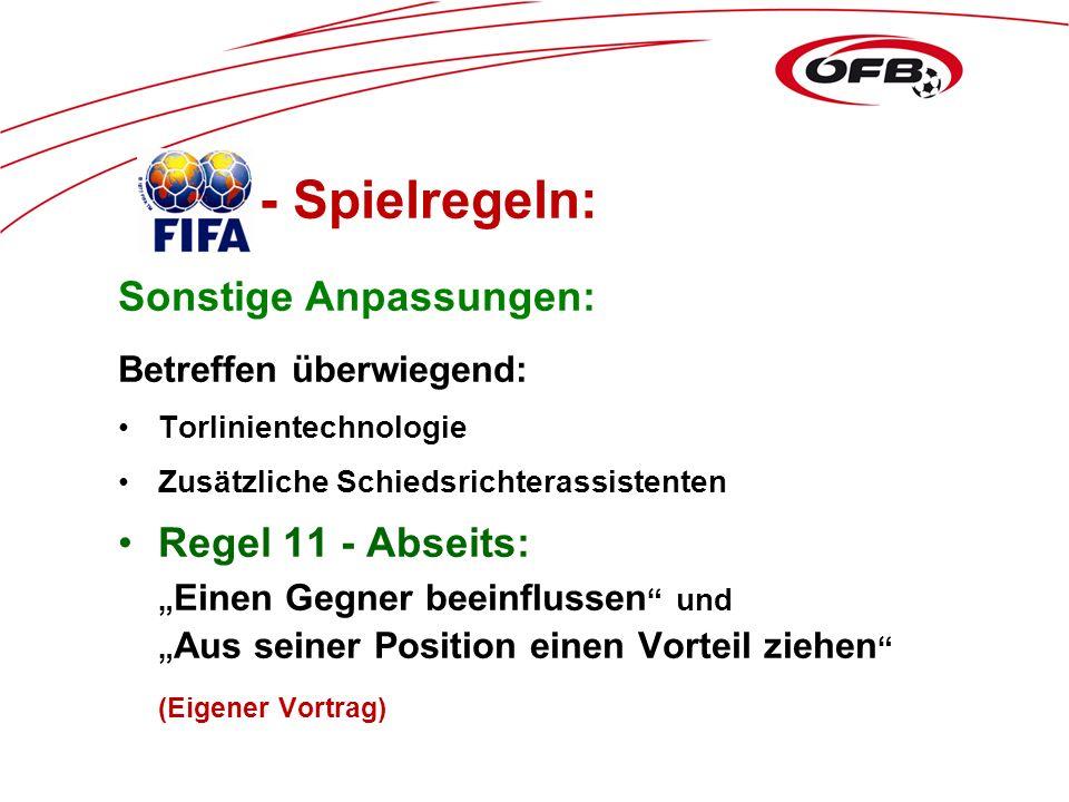 Folie 1 Anpassung der ÖFB- Erläuterungen für die Saison 2013/2014