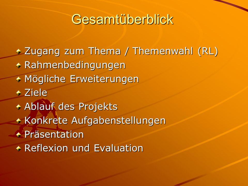 Konkrete Themenfelder und Fragen 5.