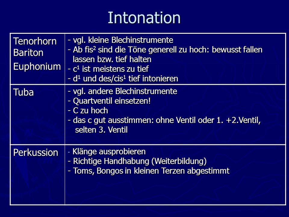 Intonation Tenorhorn Bariton Euphonium - vgl.