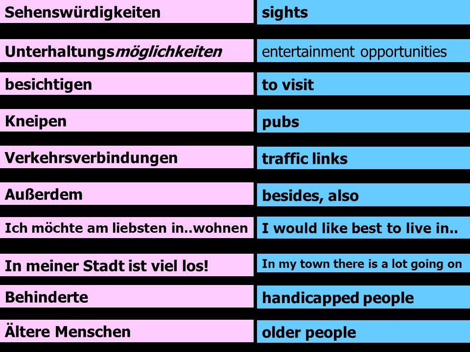 Ich wohne in einer kleinen Wohnung am Stadtrand von Berlin.