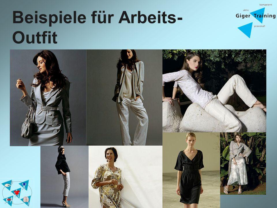 Beispiele für Arbeits- Outfit