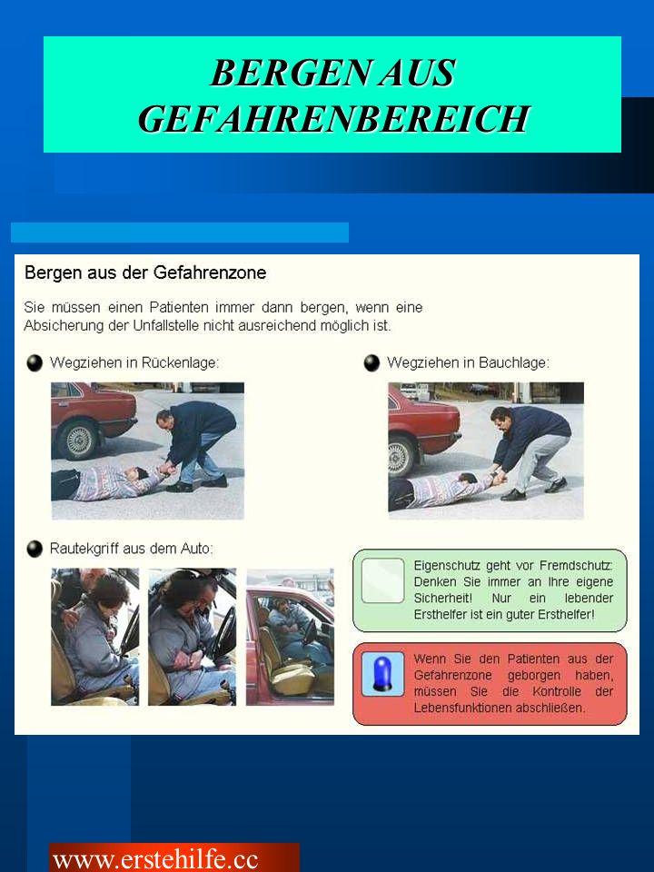 BERGEN AUS GEFAHRENBEREICH www.erstehilfe.cc