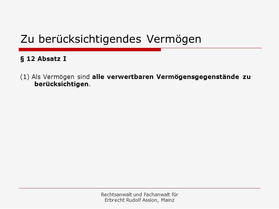 Vermögenserwerb nach Hartz-IV-Antrag Ist der Hartz-IV-Empfänger Erbe, wird auf den Todeszeitpunkt abgestellt.