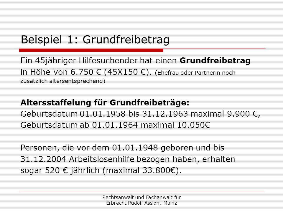 Erbenhaftung § 35 SGB II: Beispiel : Erblasser hat Leistungen in Höhe von 90.000 in den letzten 10 Jahren erhalten.