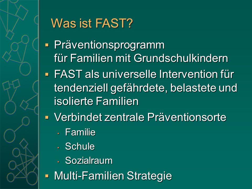 Was ist FAST? Präventionsprogramm für Familien mit Grundschulkindern Präventionsprogramm für Familien mit Grundschulkindern FAST als universelle Inter