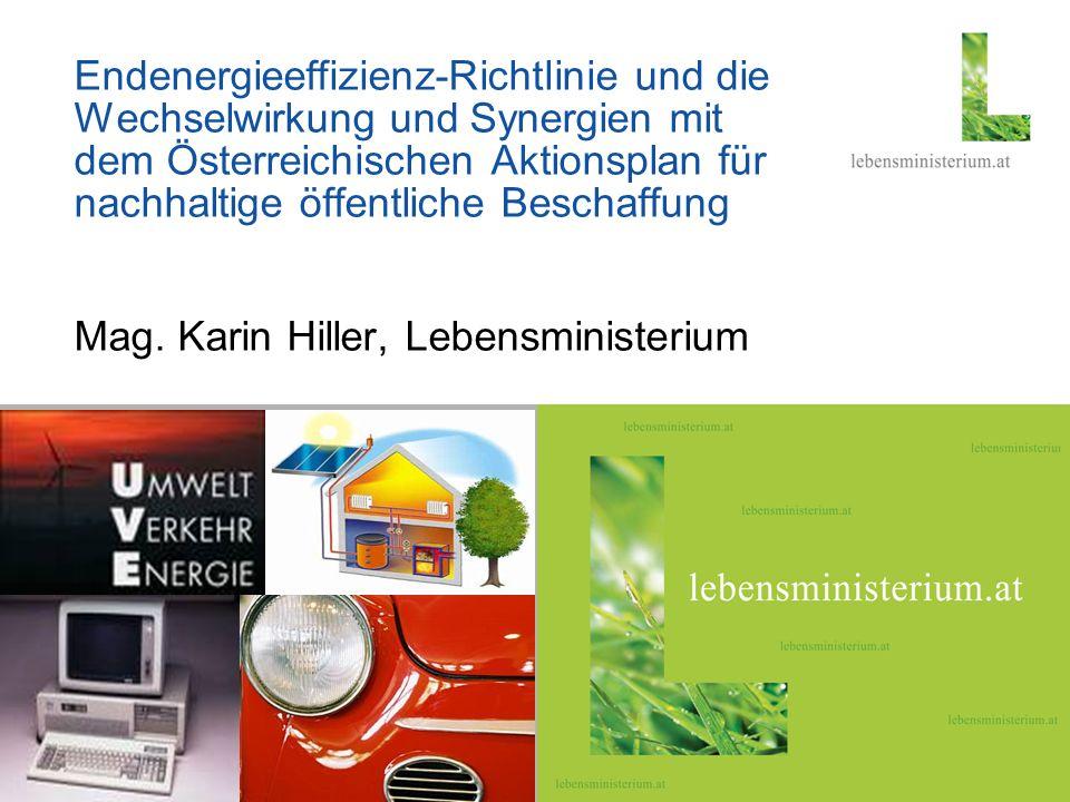 Seite 123.02.2014 Hier steht ein thematisches Foto Endenergieeffizienz-Richtlinie und die Wechselwirkung und Synergien mit dem Österreichischen Aktion