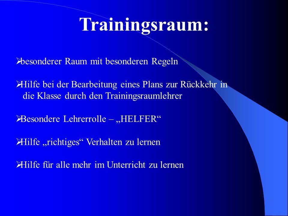 besonderer Raum mit besonderen Regeln Hilfe bei der Bearbeitung eines Plans zur Rückkehr in die Klasse durch den Trainingsraumlehrer Besondere Lehrerr