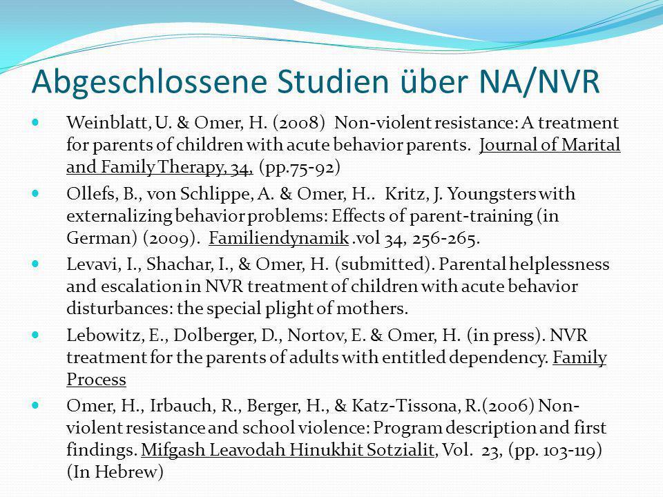 Abgeschlossene Studien über NA/NVR Weinblatt, U.& Omer, H.