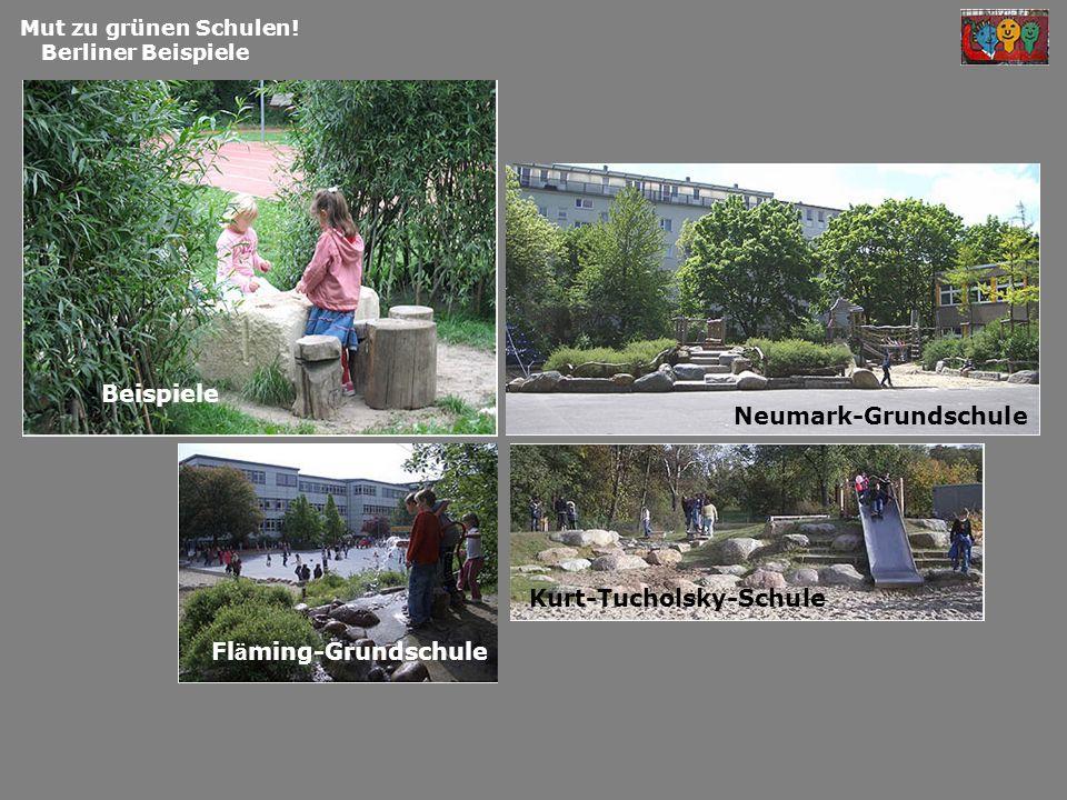 Mut zu grünen Schulen! Berliner Beispiele Beispiele Fl ä ming-Grundschule Kurt-Tucholsky-Schule Neumark-Grundschule