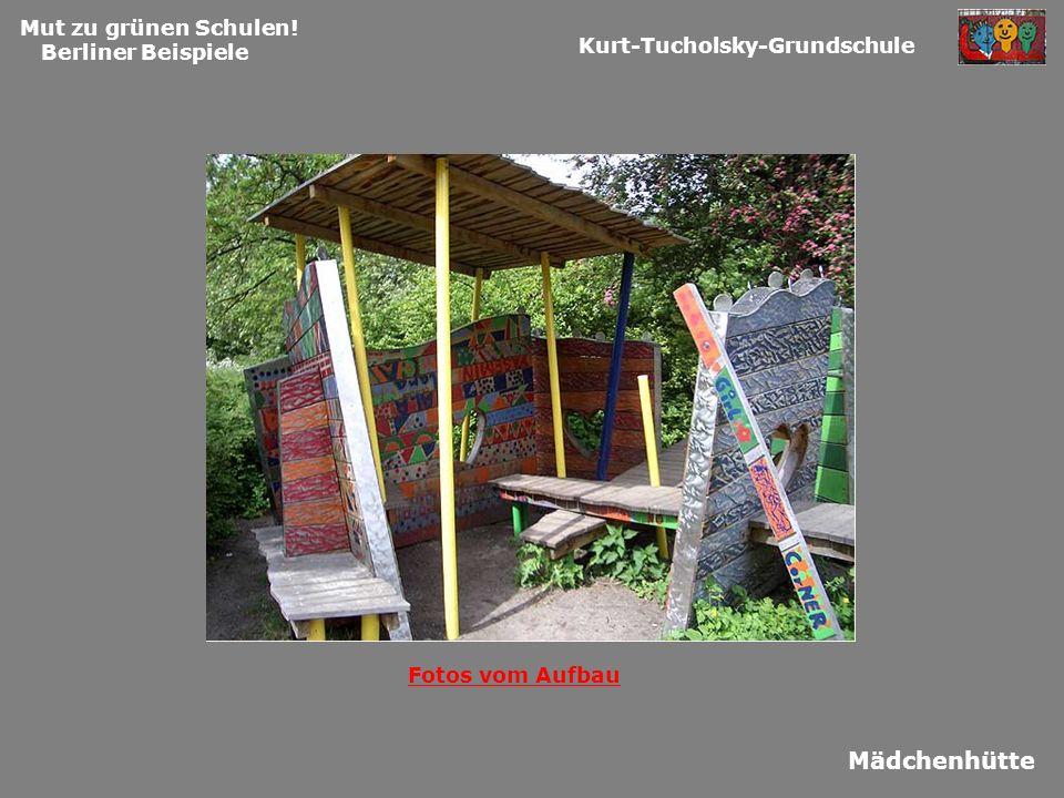 Mut zu grünen Schulen! Berliner Beispiele Kurt-Tucholsky-Grundschule Mädchenhütte Fotos vom Aufbau
