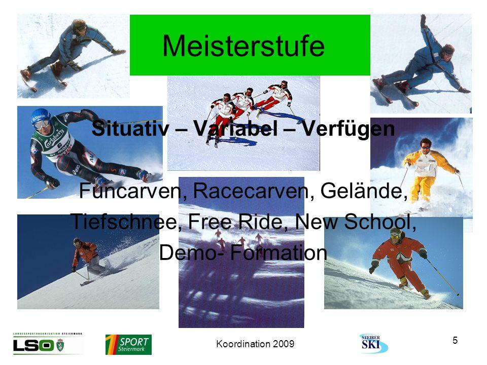 Koordination 2009 16 Grundstufe Präsentation der Gruppenarbeit Kurven im Pflug