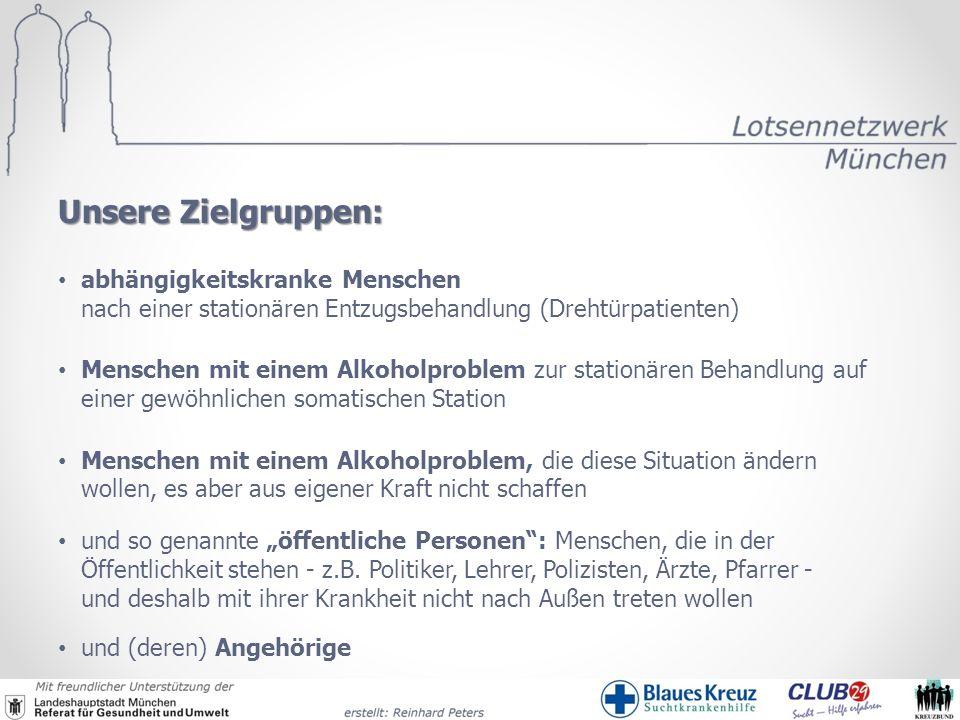 abhängigkeitskranke Menschen nach einer stationären Entzugsbehandlung (Drehtürpatienten) Menschen mit einem Alkoholproblem zur stationären Behandlung