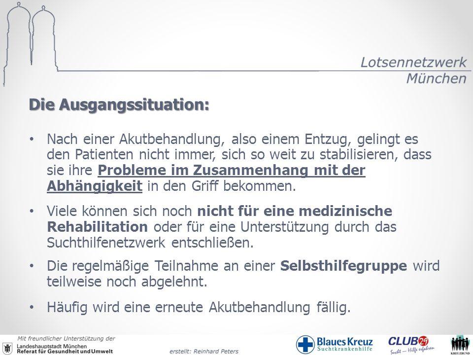 Ablauf der Behandlung Patient Tagesstätte Wohnheim Fachklinik/ med.