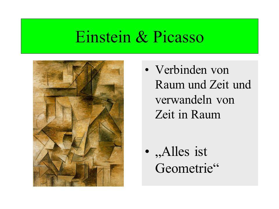 Einstein & Picasso Verbinden von Raum und Zeit und verwandeln von Zeit in Raum Alles ist Geometrie