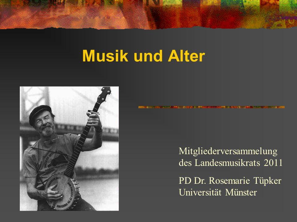 Streiflichter aus einem nicht defizitäre Blickwinkel des Themas Musik und Alter Das Nachdenken über Musik im Alter rückt kritische Aspekte des aktuellen Musiklebens ins Blickfeld