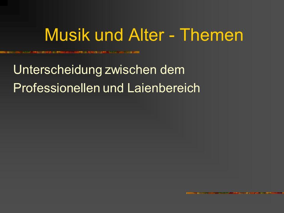Der musiktherapeutische Blickwinkel betont: Musik ist für den Menschen (und nicht umgekehrt) Musik ist zwischen Menschen eine zusätzliche Möglichkeit der Verständigung der Miteinanders des Zusammenseins Musik macht auch Sinn ohne Publikum