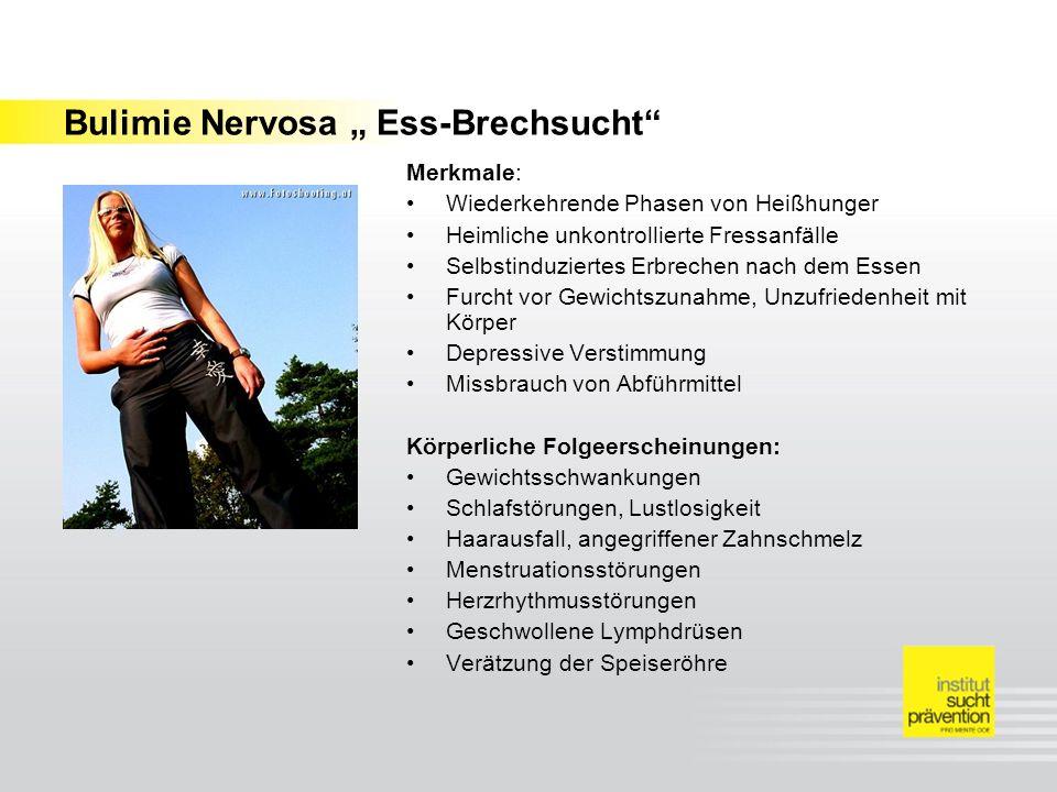 Ebenen der Botschaft (Schulz von Thun) Nachricht Sachinhalt Selbstoffenbarung Bezie- hung Appell Jede Essstörung ist eine ernst zu nehmende Erkrankung, die aber heilbar ist Du bist mir wichtig.
