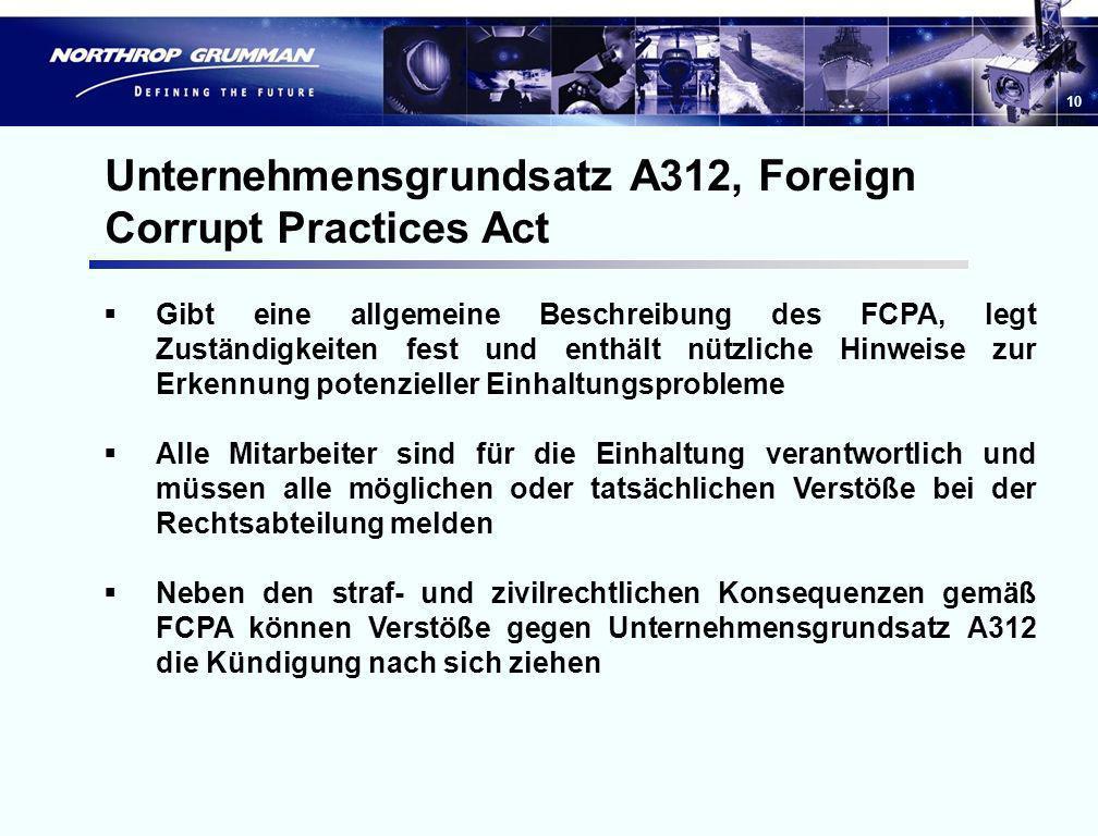 9 A301 – Ausnahmeregelung für Beratungsdienste Die Ausnahmeregelung gilt nicht, wenn: die Produkte und Dienstleistungen des Unternehmens im Rahmen der
